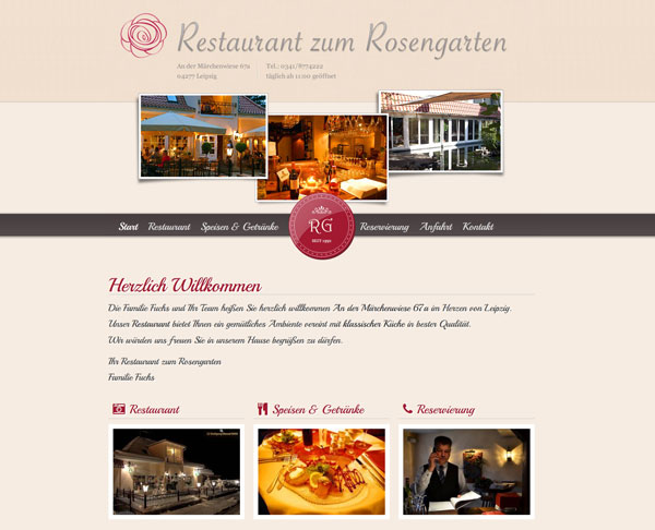 Website für Restaurant in Leipzig